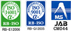 ISO9001/14001認証取得 ISO14001